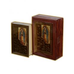 Biblia CH Madera CC Rosas Oro