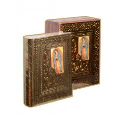 Biblia Gde Madera CC Rosas oro