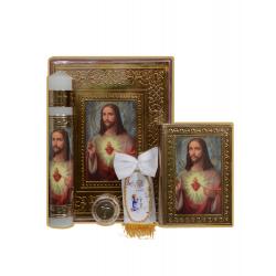 BIBLIA LATINO. CH REPUJADO VIRGEN/ALCATRAZ ORO